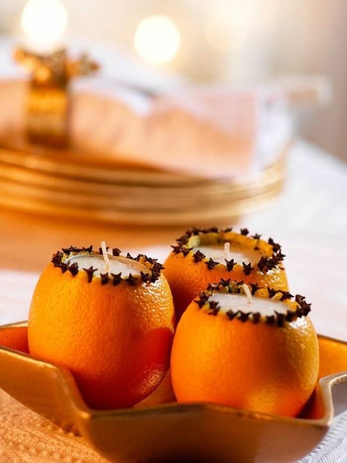 billige-kerzen-in-Orangen-gestellt