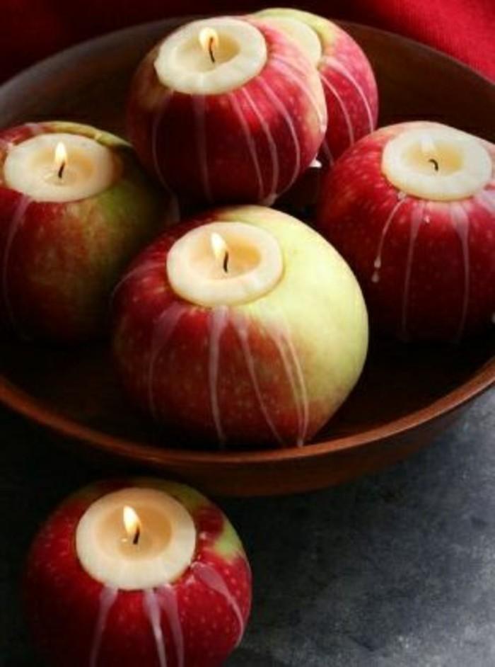 billige-kerzen-in-einigen-Äpfeln