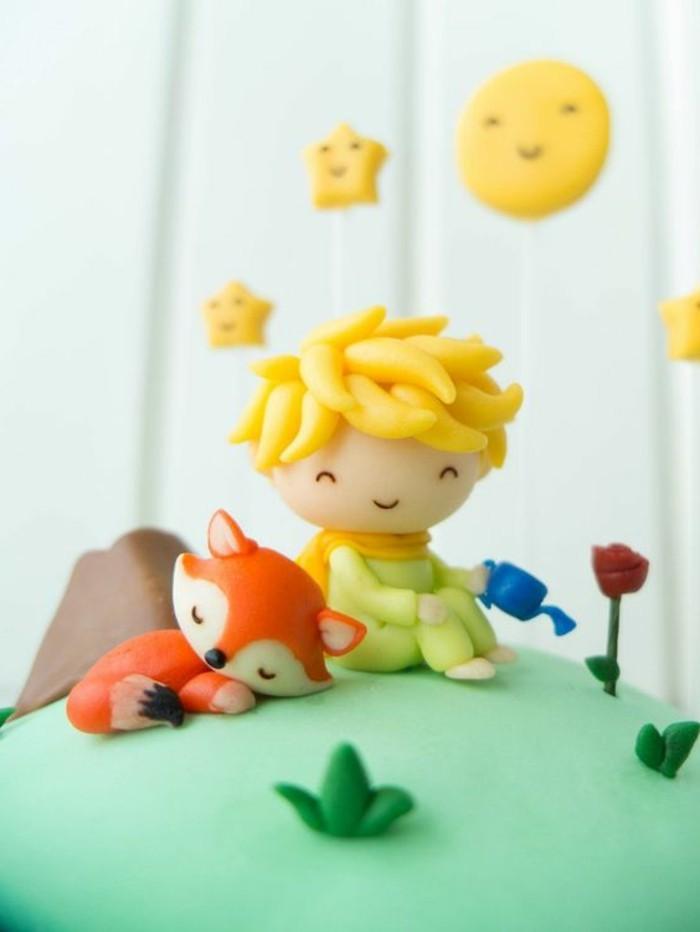 coole-Idee-für-Geburtstagstorte-der-kleine-Prinz-seine-Fuchs-und-Rose