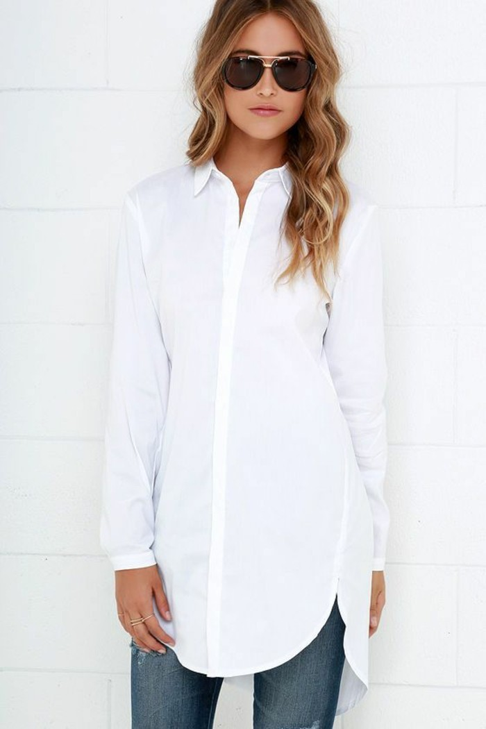 damen-jeans-hemd-weiße-farbe