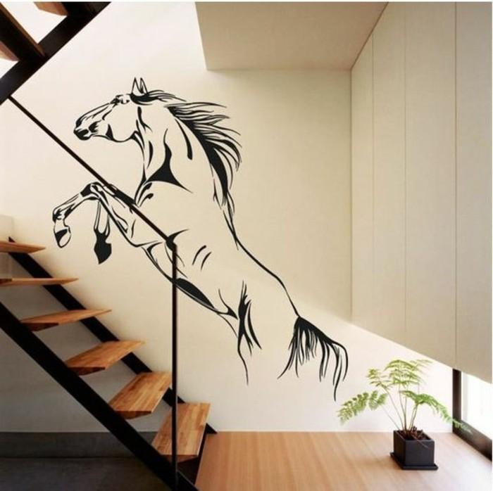 dekoration-flur-mit-einem-Pferd