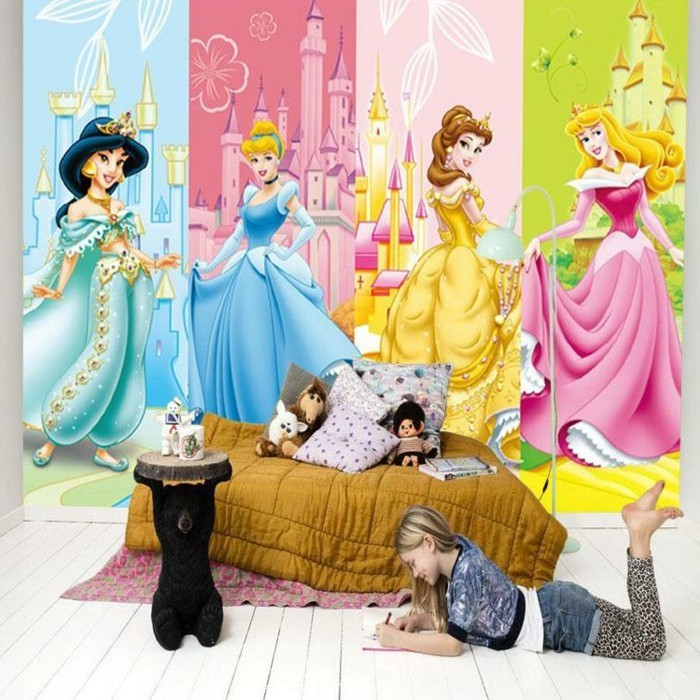 Kinderzimmer Wandgestaltung Disney: Bunte wandgestaltung ...