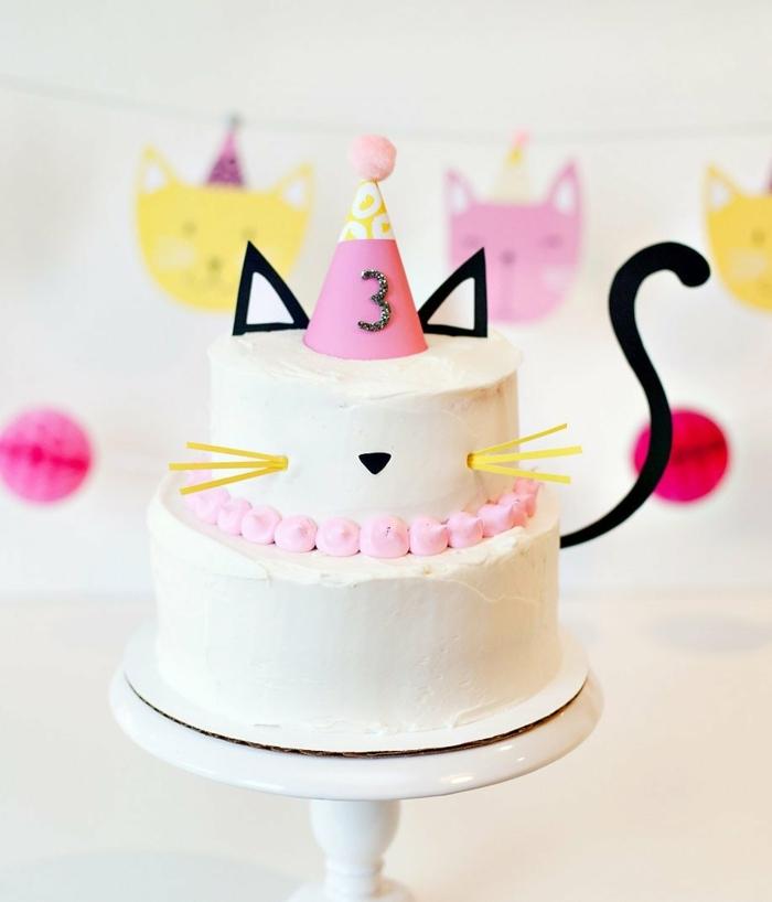 dritter geburtstag kuchen katze form geburtstagskuchen rezept originelle ideen für kindergeburtstag