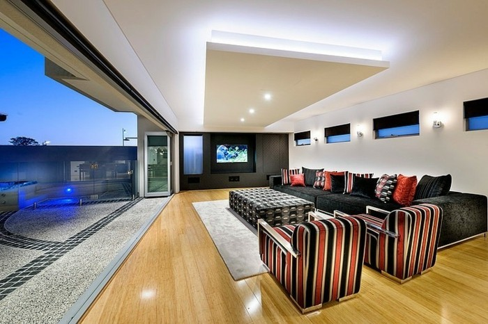 deckenbeleuchtung wohnzimmer led indirekte beleuchtung. Black Bedroom Furniture Sets. Home Design Ideas