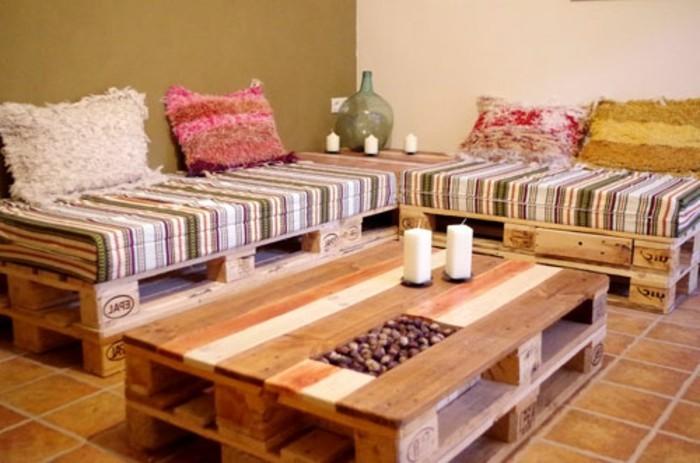 Effektvolles Modell Wohnzimmer Sofa Aus Europaletten Nesstische