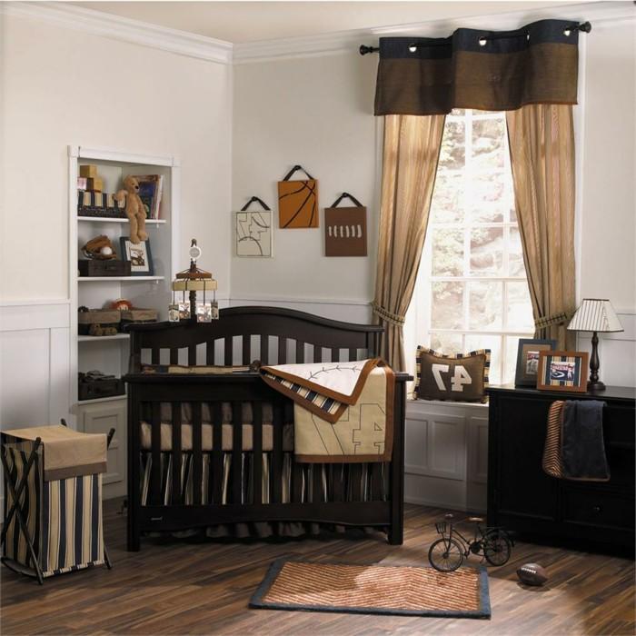 einmalige-hölzerne-babybetten-babyzimmer-für-jungen-ausstatten