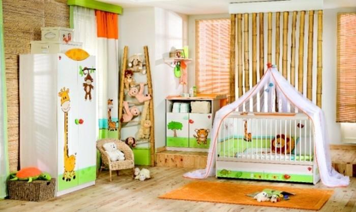 einmaliges-design-babyzimmer-bunte-farben-schöne-babybetten