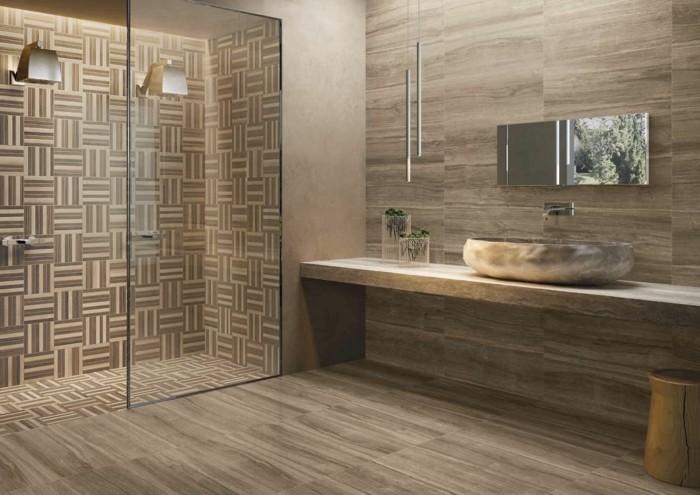 Badezimmer modelle  Bodenfliesen in Holzoptik für ein tolles Bad! - Archzine.net