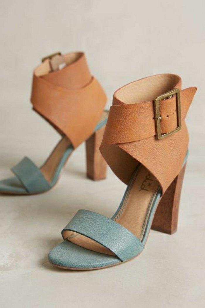 elegante-Damen-Sandalen-aus-Leder-in-zwei-Farben