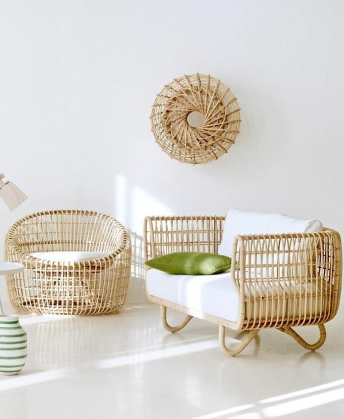 elegantes-Zimmer-Design-wunderschöne-Rattanmöbel-Rattansessel