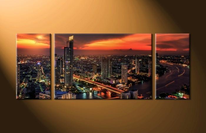 fantastische-Bilder-auf-Leinwand-große-beleuchtete-Stadt