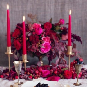 42 faszinierende Tischdekoration Ideen in Rot