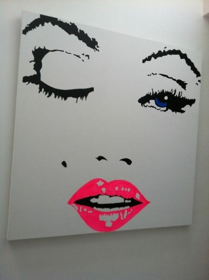 fantastisches-Art-Leinwandbild-Marilyn-Monroe-Darstellung