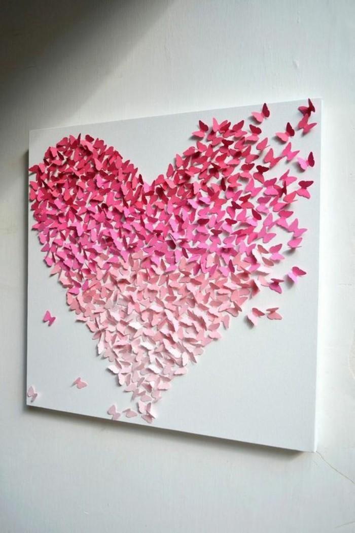 fantastisches-Leinwandbild-Herz-aus-Papier-in-süßen-Nuancen