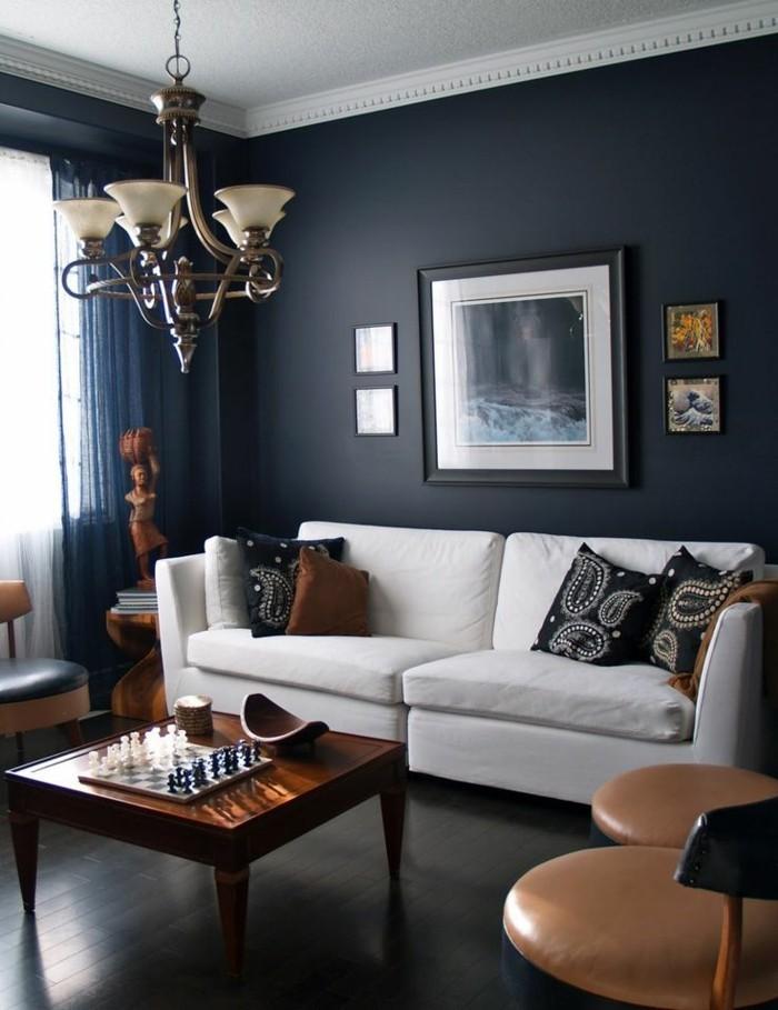 farbe petrol kleines wohnzimmer interessant gestalten - Wandfarbe Kleines Wohnzimmer