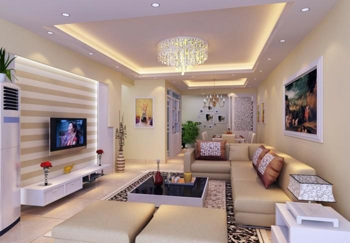 farbgestaltung-wohnzimmer-moderne-weiße-schön-dekorierte-wände