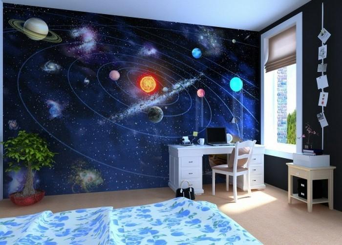 Decoration Murale Planete Galaxie