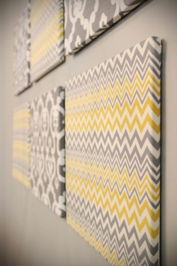frischer-Leinwanddruck-in-Gelb-und-Grau