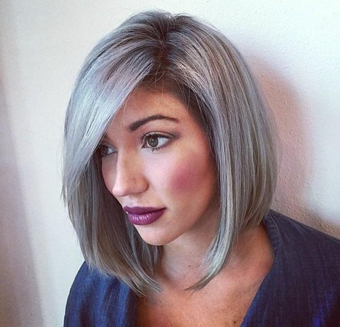Haarfarben palette grau