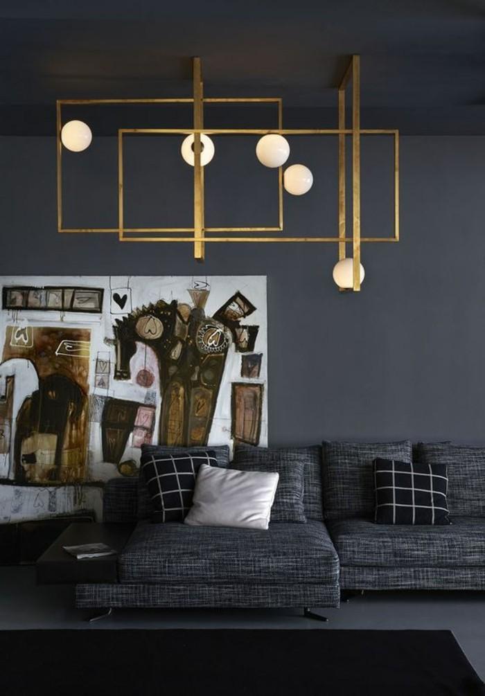 graues-wohnzimmer-sehr-modern-schöne-deckenleuchten