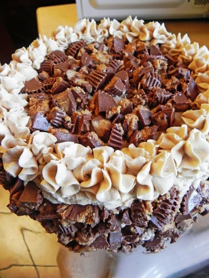 großartige-Torte-aus-Schokolade-und-Nüssen