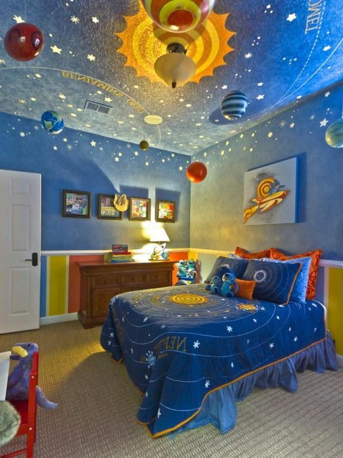 große-wandbilder-für-kinderzimmer-in-blauer-farbe-mit-sonnesystem