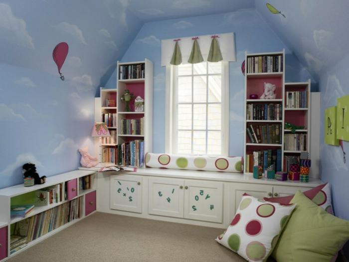 Himmel kinderzimmer  Schöne Wandbilder für Kinderzimmer - einige tolle Ideen - Archzine.net