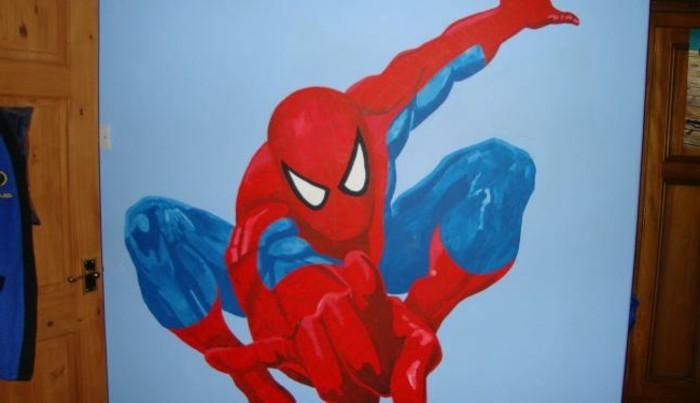 große-wandbilder-mit-Spiderman-im-Sprung
