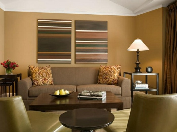 Wohnzimmer Wandgestaltung Farbe | Badezimmer & Wohnzimmer Wohnzimmer Modern Ausmalen