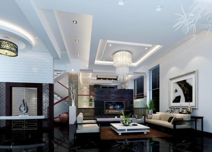 Welche Deckengestaltung Furs Wohnzimmer Gefallt Ihnen Archzine Net