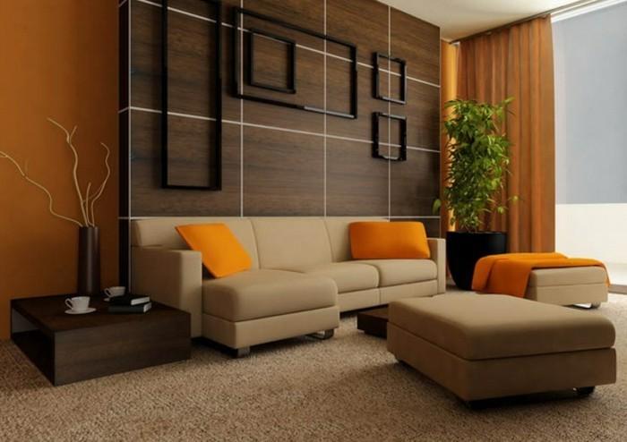 interessante-moderne-wand-deko-ideen-fürs-wohnzimmer-hölzerne-elemente-über-dem-sofa