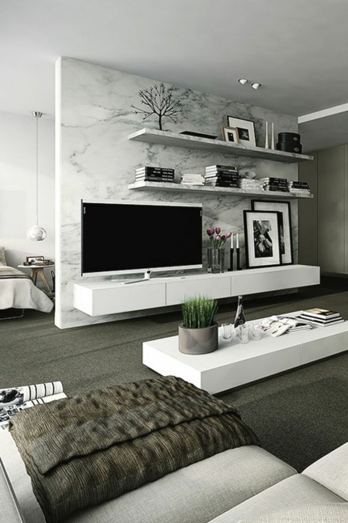 trennwand wohnzimmer fernseher. Black Bedroom Furniture Sets. Home Design Ideas