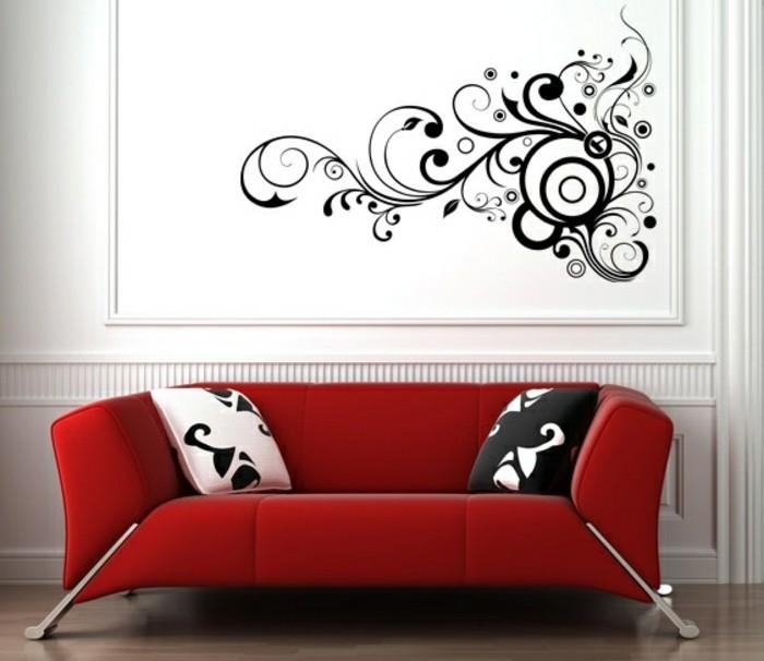 interessante-tapeten-ideen-schöne-wohnzimmer-raumgestaltung