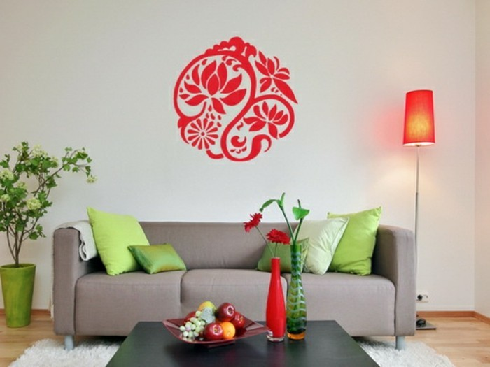 Ideen für wohnzimmer wandgestaltung  120 Wohnzimmer Wandgestaltung Ideen! - Archzine.net