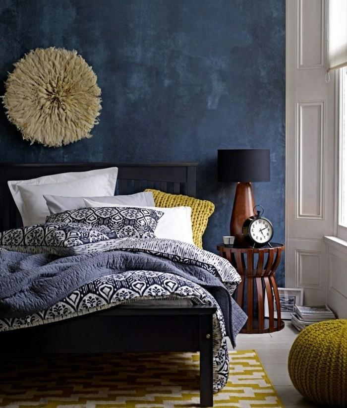 Schlafzimmer Ideen für Wandfarbe Petrol