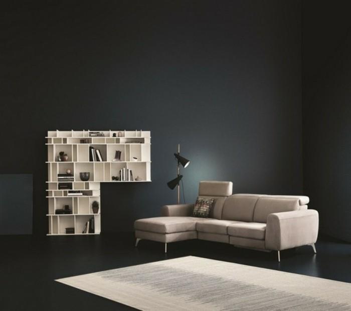 wohnzimmer ideen farbe top best ideen wohnzimmer streichen graue wandfarbe weisse regale modern. Black Bedroom Furniture Sets. Home Design Ideas