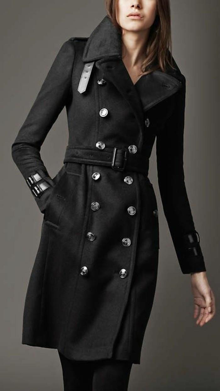 Burberry mantel schwarz