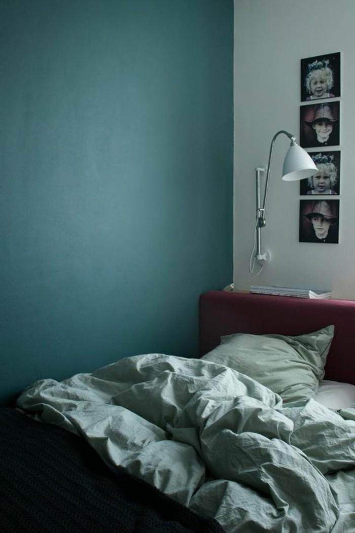 Kleines Schlafzimmer Petrol Wandfarbe Tolle Wandgestaltung