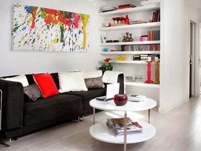 kleines-wohnzimmer-wände-streichen-und-deko-ideen