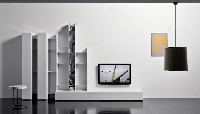 kreative-moderne-wandgestaltung-farbe-für-schönes-wohnzimmer