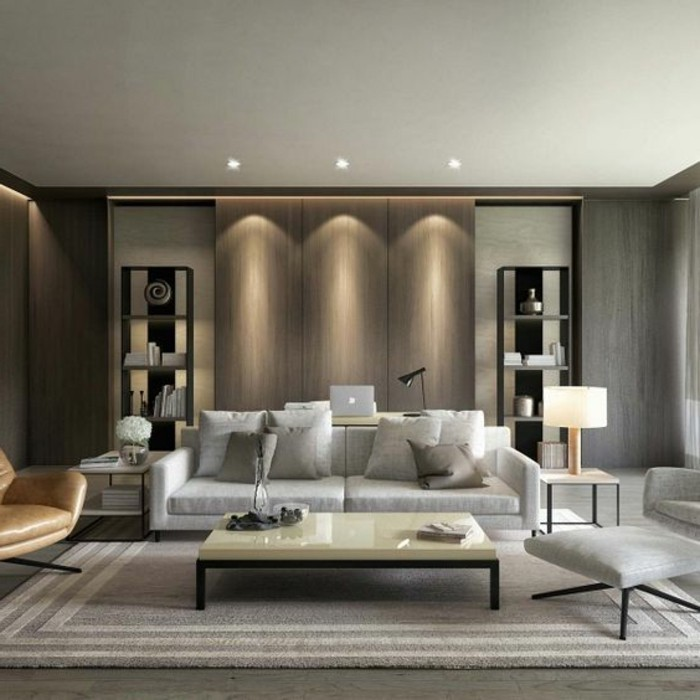 kreative-moderne-wohnzimmer-wandgestaltung-schöne-deckenleuchten