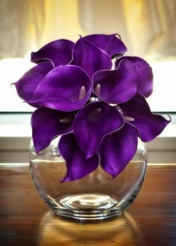 lila-Blume-in-rundförmiger-Vase