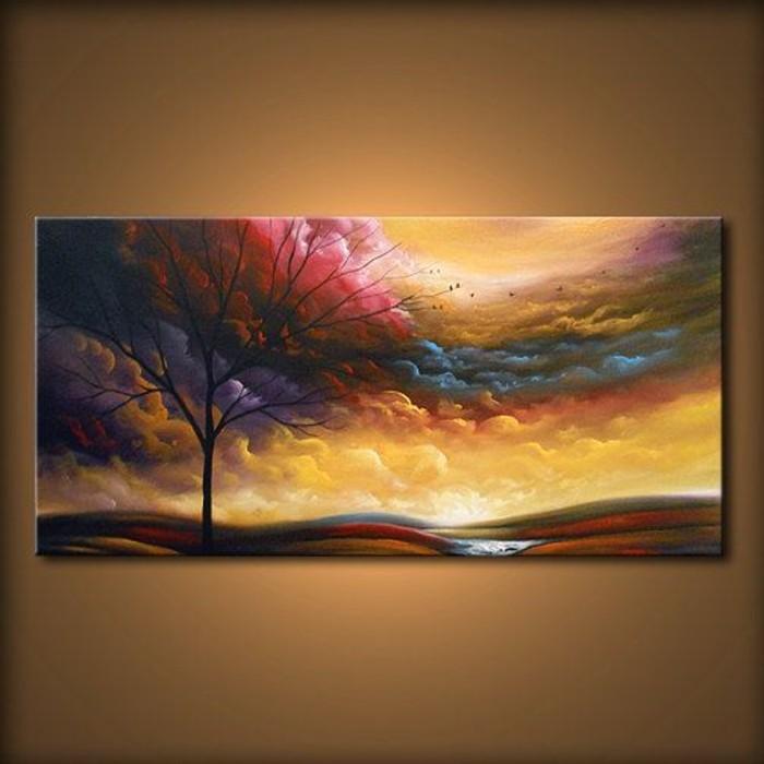 malerisches-Bild-auf-Leinwand-Herbst-Darstellung