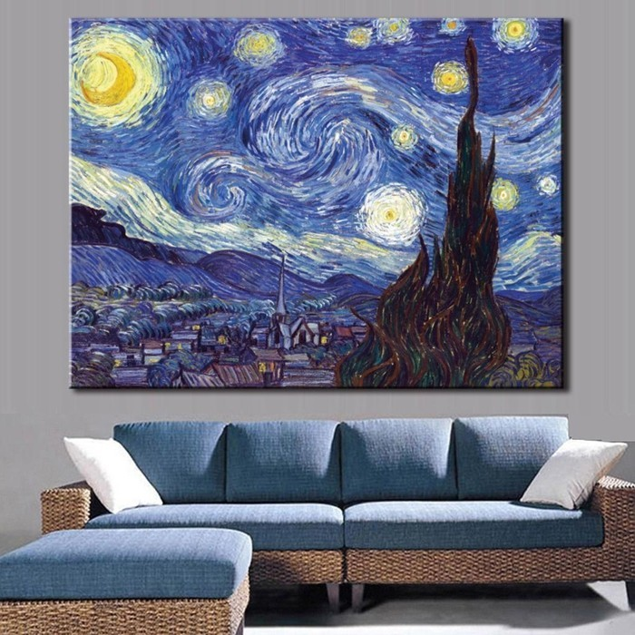 malerisches-Leinwandbild-Himmer-mit-vielen-Sternen
