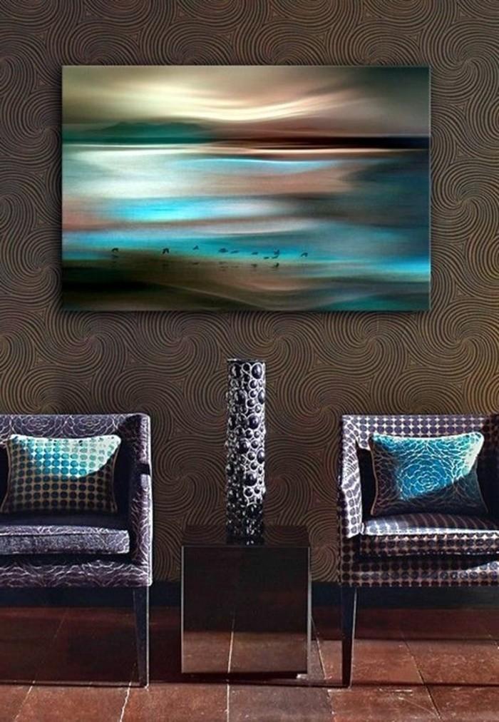malerisches-Leinwandbild-Sonnenuntergang-Gestaltung-in-weichen-Farben