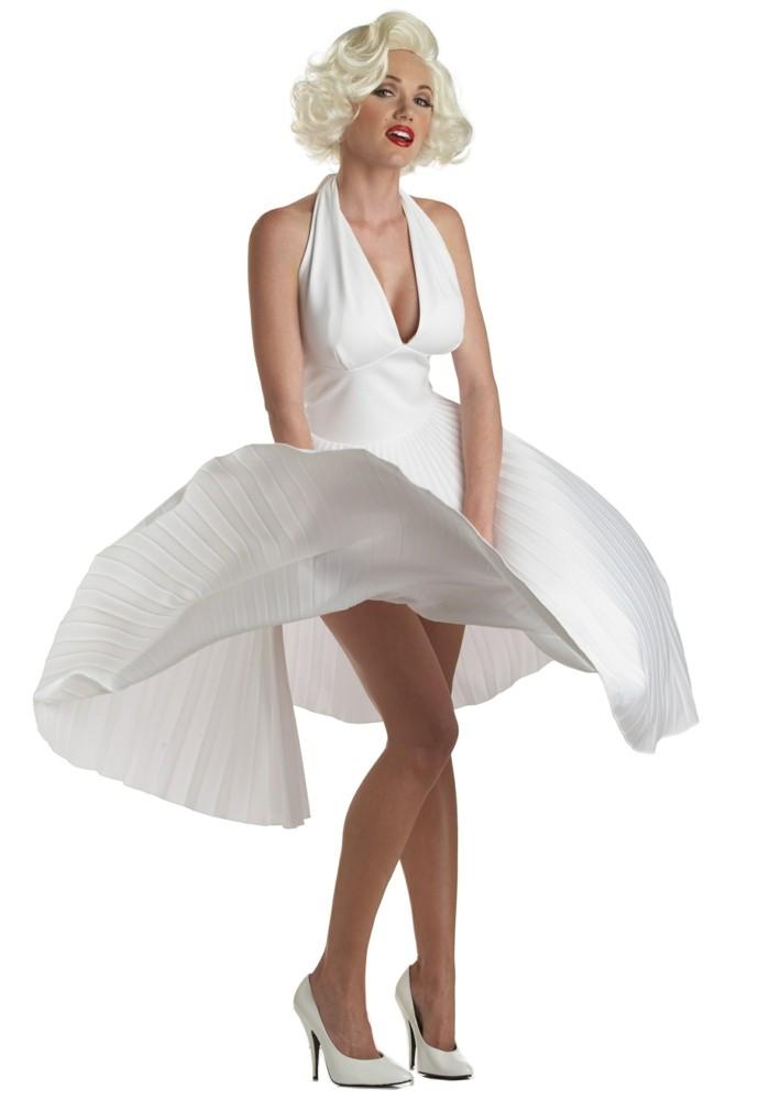 merilyn-monroe-weißes-kleid-inspiraton-kurze-blonde-frisur