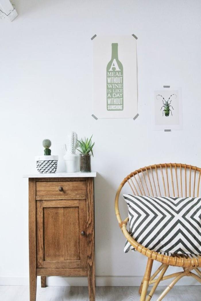 minimalistische-Einrichtung-Souvenirs-Rattansessel-mit-rundförmiger-Lehne
