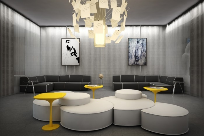 Interieur Mit Schwarzen Akzenten Wohnung Bilder Wohnung Mit Bunten ...