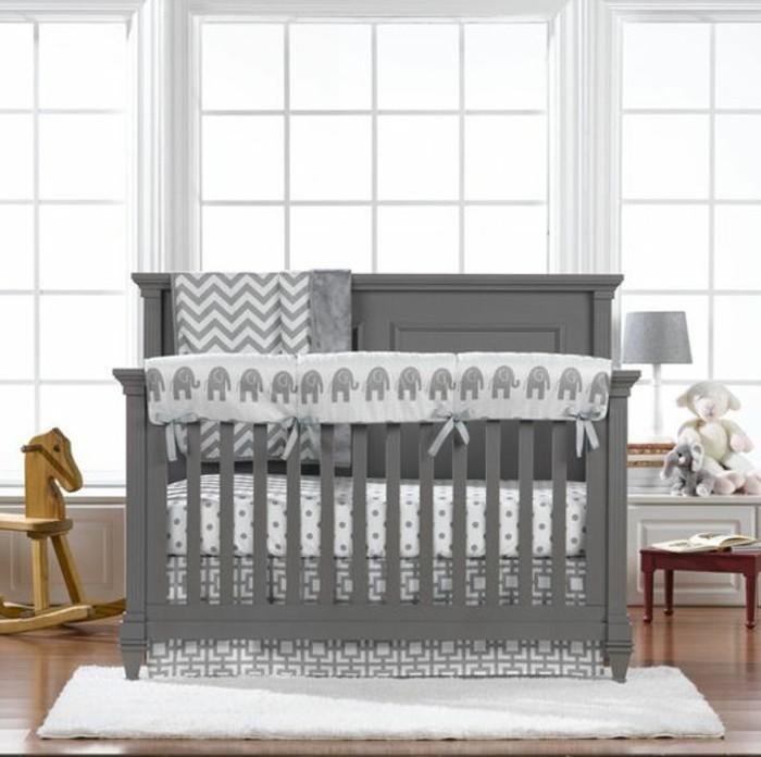Moderne Und Stilvoll Wirkende Babybetten Graues Modell Im