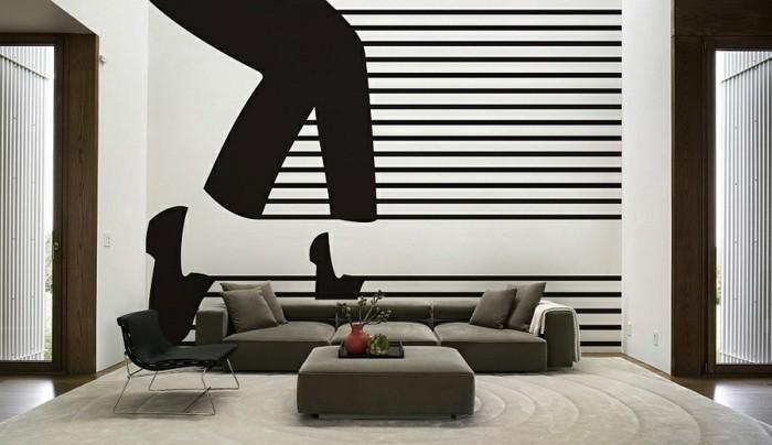 moderne-wandgestaltung-ideen-fürs-wohnzimmer